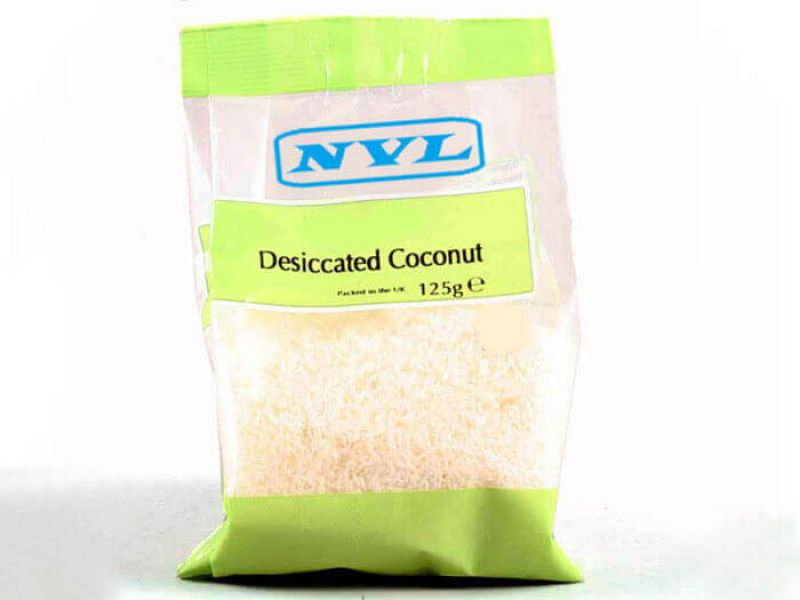 Dried disiccated coconut
